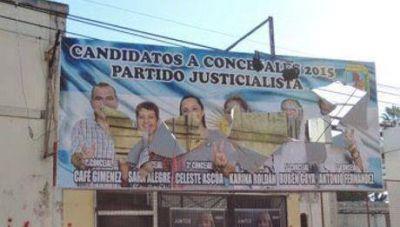 Vandalismo en Paso de los Libres: Destruyeron carteleria del FpV local