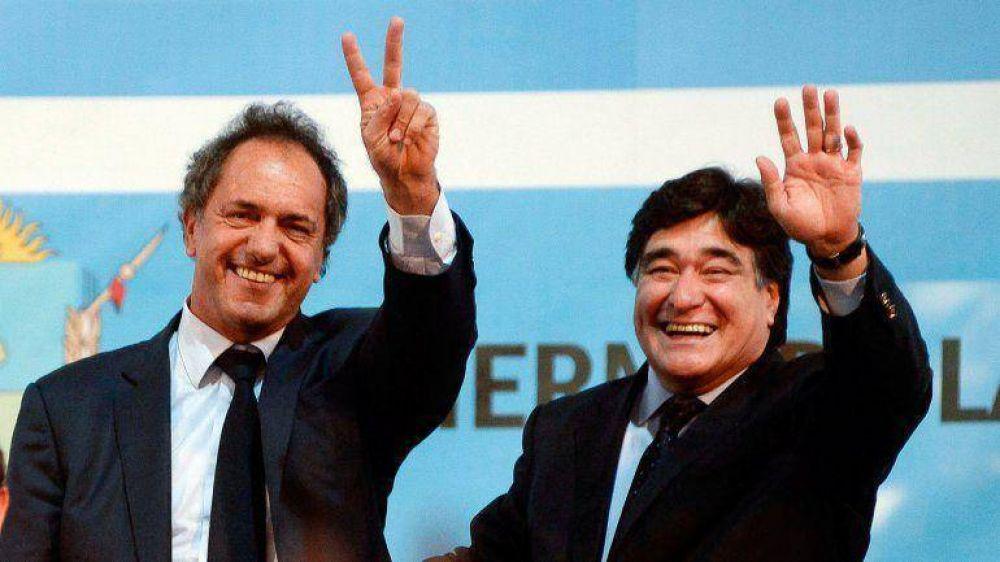 Ante empresarios, Scioli prometió