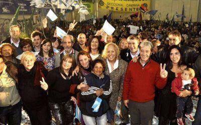 Fuerte apoyo a la candidatura de Stella Giroldi, que va en busca de una nueva reelección