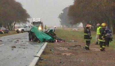 Cuatro muertos en un choque en la ruta 188