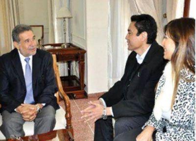 Beder Herrera recibi� a Hugo Vera y Claudia Ortiz