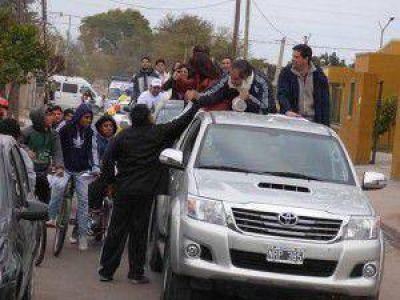 La caravana de FCR llegó a los barrios del este de la ciudad