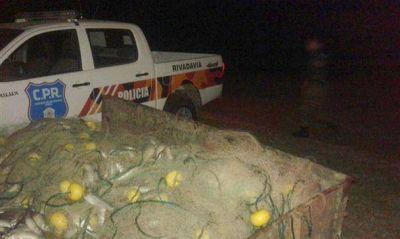 Personal del Comando de Prevención Rural realizó un secuestro de pescado y redes