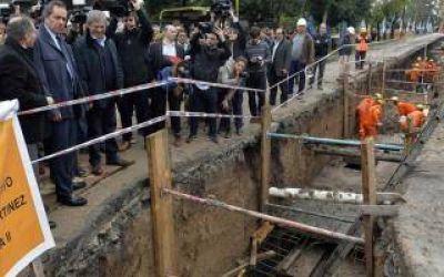 Scioli recorrió importante obra hidráulica en Ituzaingó