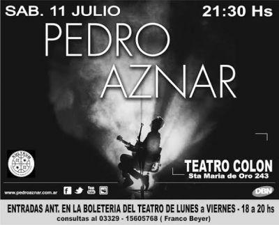 Pedro Aznar en Baradero