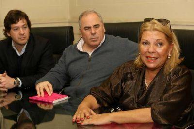 """Carrió en La Plata: """"Si gana Scioli, va a gobernar Zannini"""""""