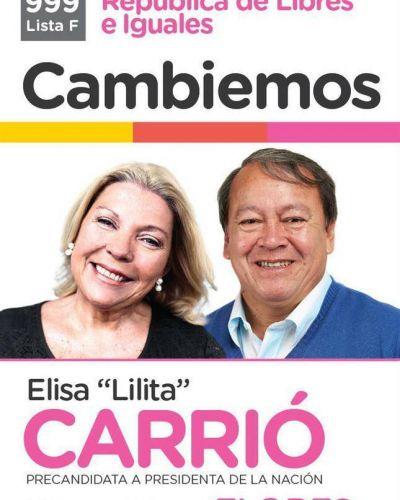 Ásí es la boleta de Carrió-Flores que presentó la CC para las PASO del 9 de agosto