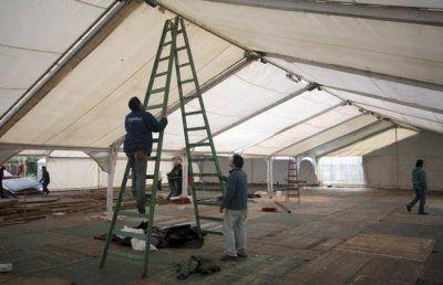 Comenzaron los preparativos para la Feria de las Colectividades