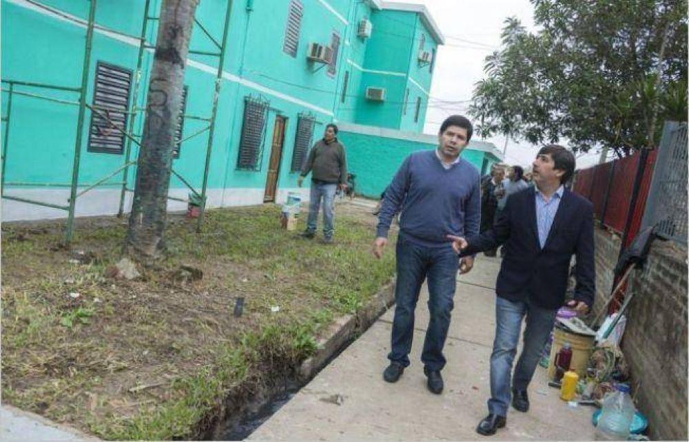 Martínez resaltó el avance de las obras en el barrio UPCP