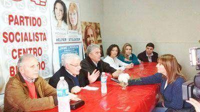 Jaime Linares, precandidato de la alianza Progresistas, en Bragado