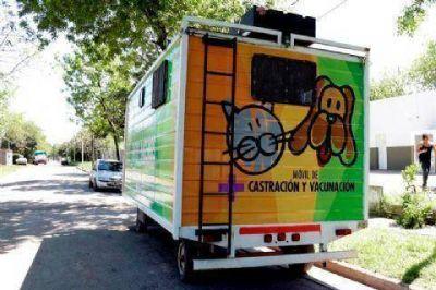 El M�vil de Castraci�n y Vacunaci�n se ubicar� en el Barrio Acevedo