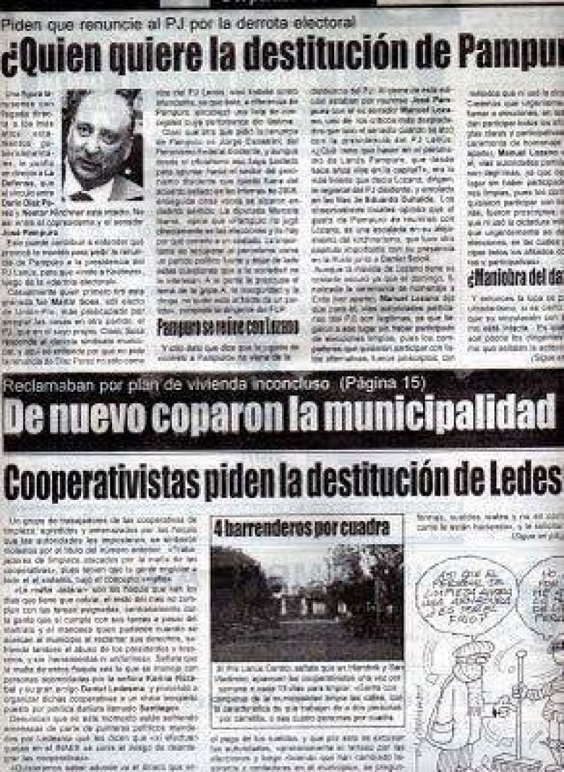 "CARTA DOCUMENTO DE DIAZ PEREZ A ""LA DEFENSA DE LANUS"""