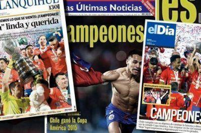 Euforia de la prensa chilena por el título en la Copa América