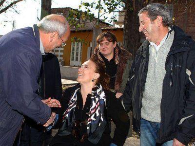 Gabriela Michetti recorrió sectores de Mendoza junto a Cobos, Vaquié y Balbo