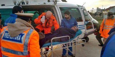 Prefectura evacuó al tripulante de un pesquero