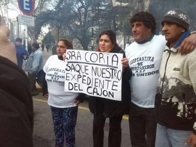 Choripaneros volvieron al reclamo, apuntaron contra Coria y amenazaron con un acampe