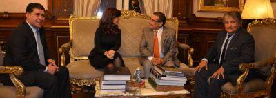 La presidenta recibió a Beder, Casas y Bosetti