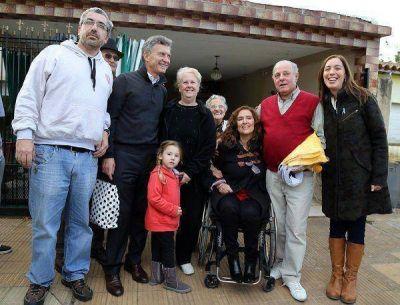 Macri, Michetti y Vidal en Ituzaing�