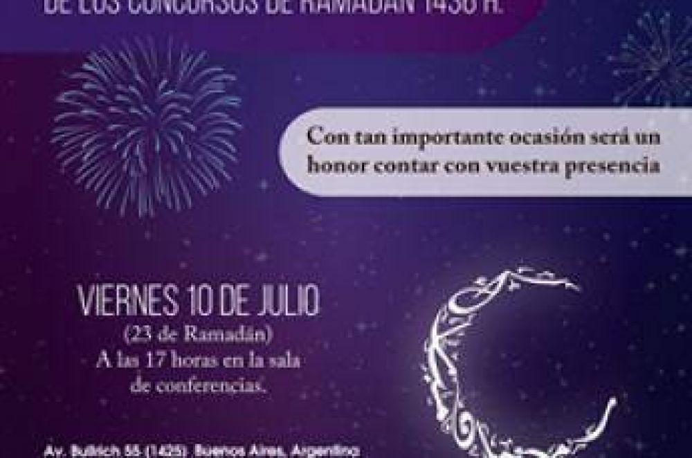 Entrega de premios de los concursos de Ramadán en Argentina