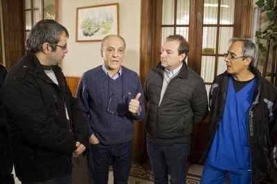 Caputo analiz� la situaci�n sanitaria de Azul con autoridades de la Regi�n