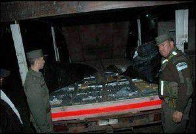 Detuvieron a un camionero con cerca de 620 kilos de marihuana