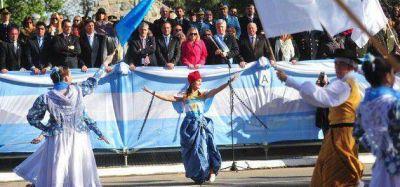 Poggi y Riccardo compartieron palco en el desfile del 9 de Julio