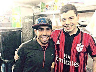 Antes de su vuelta a Boca, Tevez descansa en la ciudad