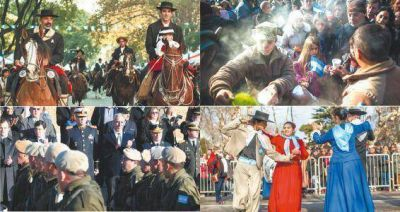 Actos, desfiles y festejos patrios en todo el país