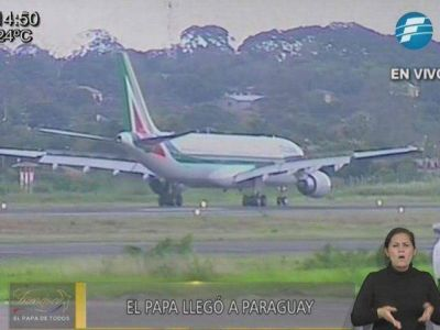 Júbilo en el país: El Papa ya está en Paraguay