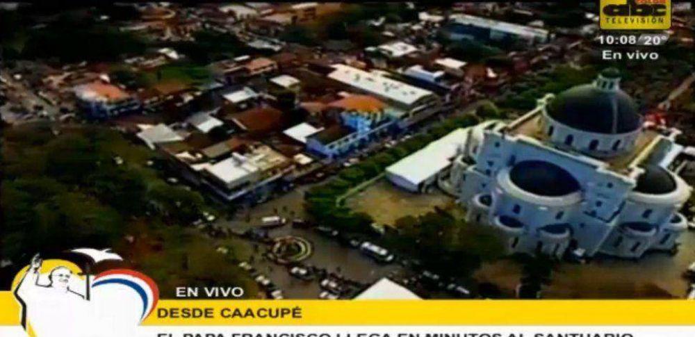 [EN VIVO] El Papa llega a Caacupé
