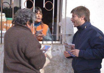 Frente Marplatense: Bonifatti, de caminata por barrio Las Heras