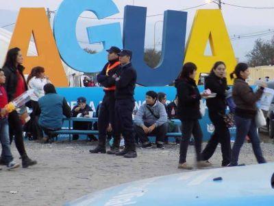 Exitoso dospisitivo de seguridad en la Fiesta del Poncho 2015