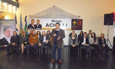 Diego Achilli presentó su lista
