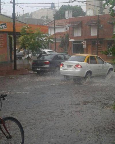 Se registraron algunas inundaciones por la tormenta en Posadas