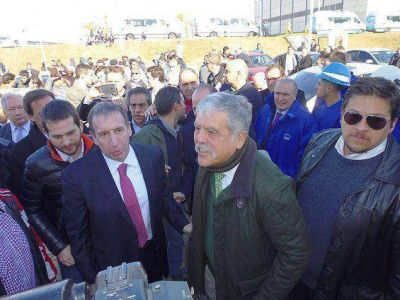 De Vido y Szpolski recorrieron la planta de Aysa en Dique Luján