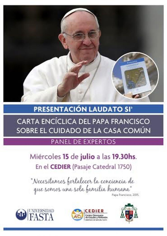 """Se presentará """"Laudato Si"""", la encíclica del Papa Francisco"""