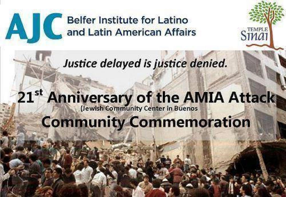 Se desarrollará un acto por el aniversario al atentado a la AMIA en Miami