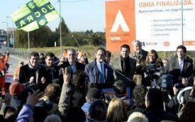 Scioli inauguró nueva bajada de la autopista Buenos Aires-La Plata