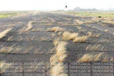 El abandono de la pista del Aeródromo de Junín quedó otra vez en evidencia