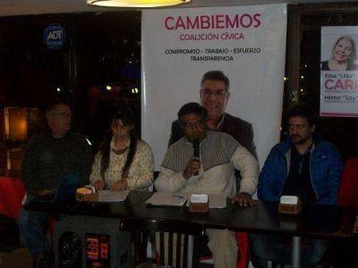 Frente Cambiemos: Saúl Trejo presentó en forma oficial su lista
