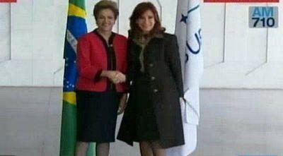 En la previa del Mercosur, Cristina y Dilma se encontraron en la Canciller�a