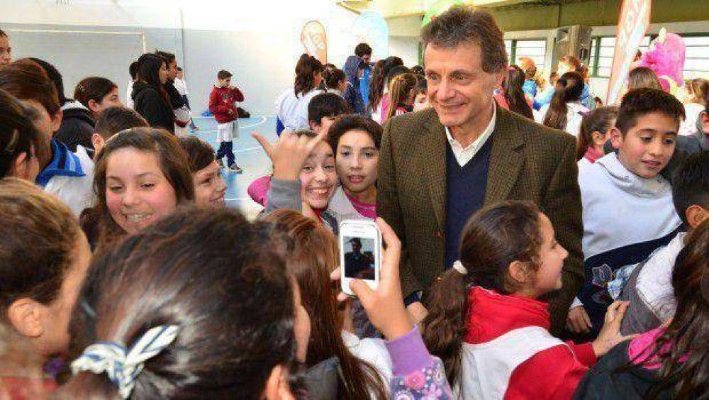 Pulti inauguró nuevas instalaciones deportivas de la Escuela Municipal del barrio Las Heras