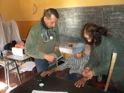 Salud sigue llevando asistencia al interior profundo de la provincia