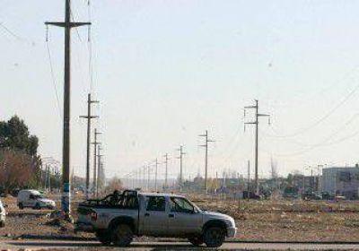 El riesgo eléctrico atraviesa a buena parte de Centenario