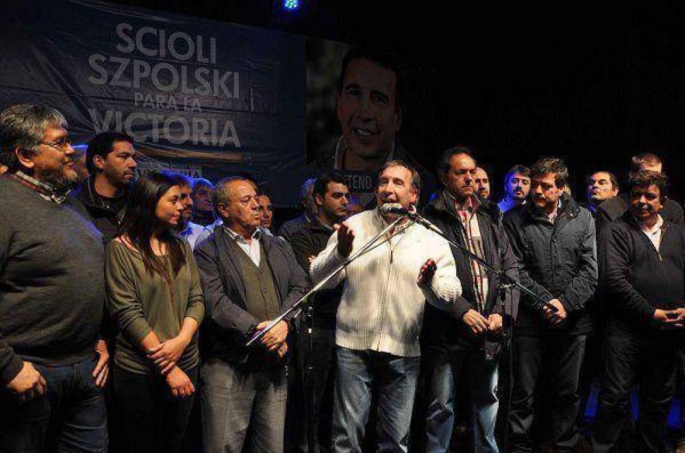 Szpolski presentó su lista con Scioli frente a miles de vecinos de Tigre