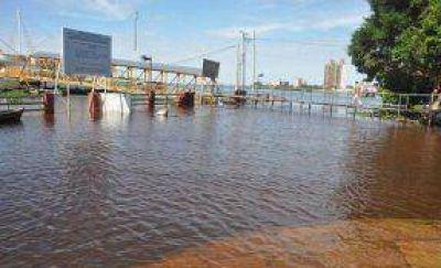 4,50m alcanzo el río Uruguay