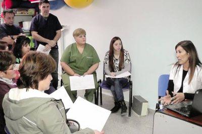 Bronquiolitis: personal de centros de salud se capacitó para brindar respuestas a la comunidad