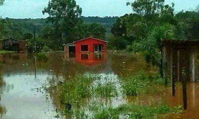 El Soberbio: No quedan familias evacuadas por la crecida del río Uruguay