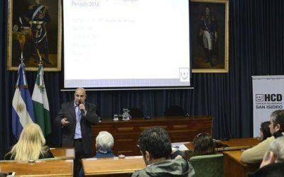 Castellano present� el informe de labor legislativa 2014