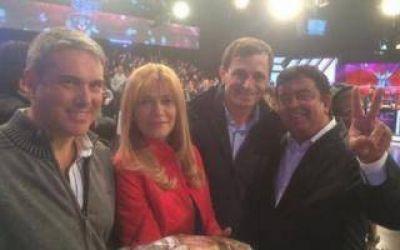 Tras las cr�ticas a Insaurralde, Espinoza se mostr� con Tinelli en Canal 13